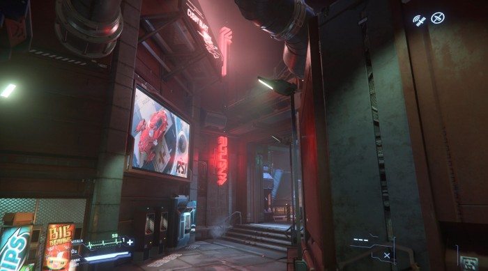Gassen und Leuchtreklame wie in Blade Runner (Bild: CIG/Screenshot: Golem.de)