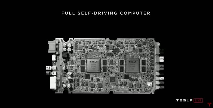 Präsentation des FSD-Chips (Bild: Tesla)