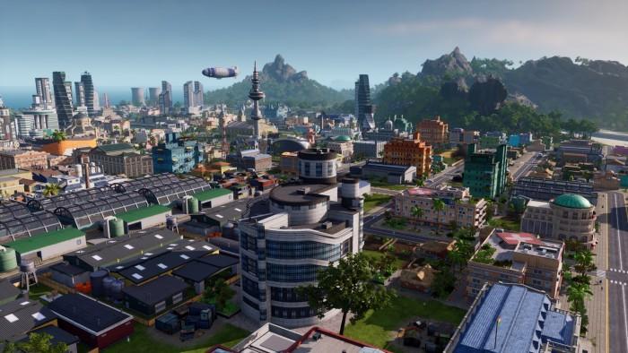 Wenn alles gut läuft, herrschen wir früher oder später über eine schicke Hightech-Metropole. (Bild: Kalypso Media)