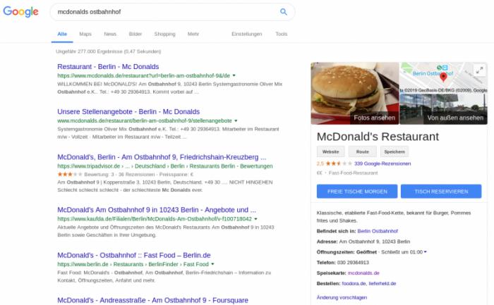 Ein Tisch im McDonalds am Berliner Ostbahnhof gefällig?