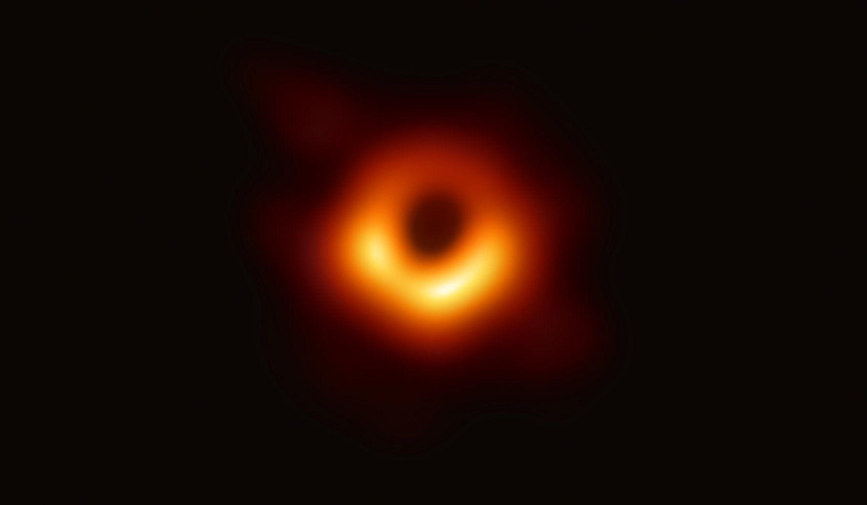 Event Horizon Telescope: Wissenschaftler fotografieren erstmals ein schwarzes Loch - Das schwarze Loch im Zentrum der Galaxie Messier 87 (Bild: EHT)
