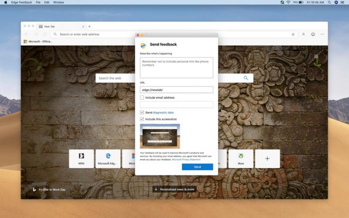 Edge-Browser für den Mac (Bild: Microsoft)