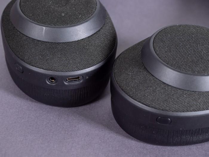 Die Elite 85h haben eine 3,5-mm-Klinkenbuchse und einen USB-C-Anschluss. (Bild: Martin Wolf/Golem.de)