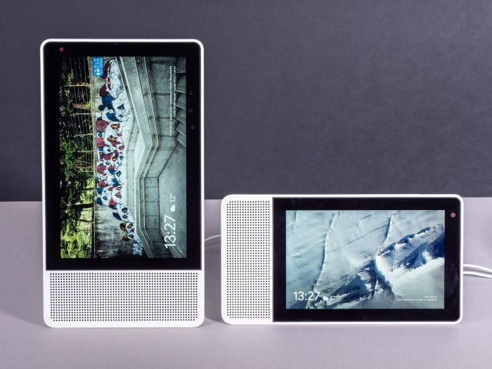 Links das Smart Display 10, rechts das Smart Display 8 (Bild: Martin Wolf/Golem.de)