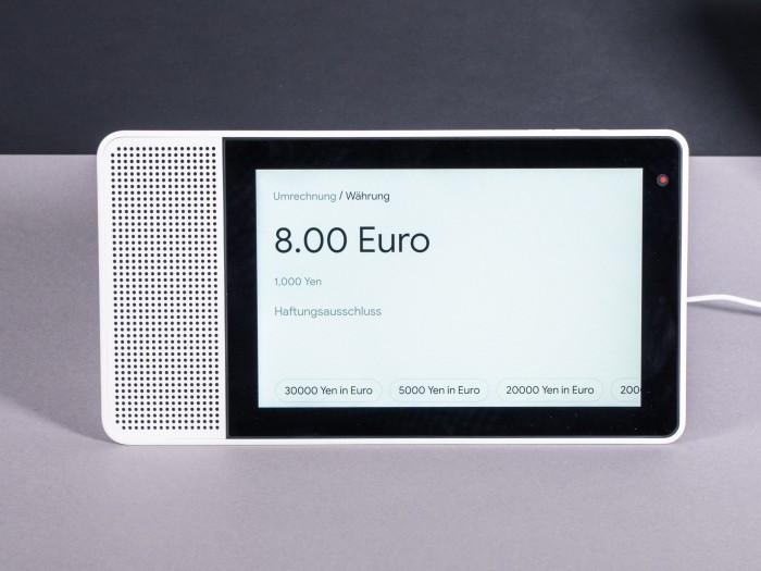 Lenovos Smart Display beim Umrechnen. (Bild: Martin Wolf/Golem.de)