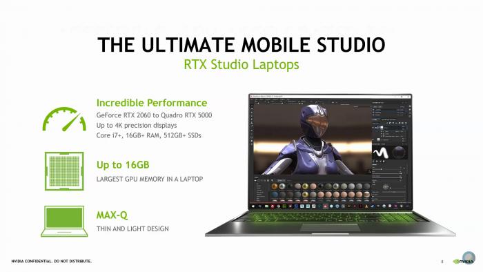 Studio Laptops mit Quadro RTX Mobile (Bild: Nvidia)
