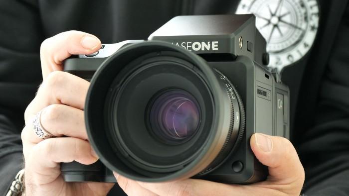 Die Mittelformatkamera Phase One IQ4 (Foto: Martin Wolf/Golem.de)