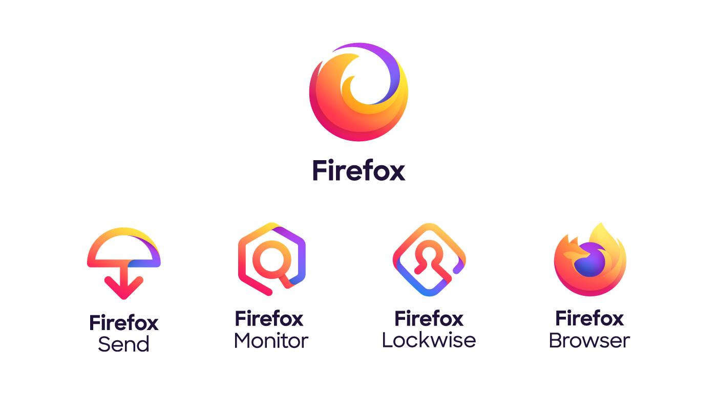 Mozilla: Firefox bekommt mehrere neue Logos - Der gut erkennbare Fuchs bleibt dem Browser vorbehalten. (Bild: Mozilla)