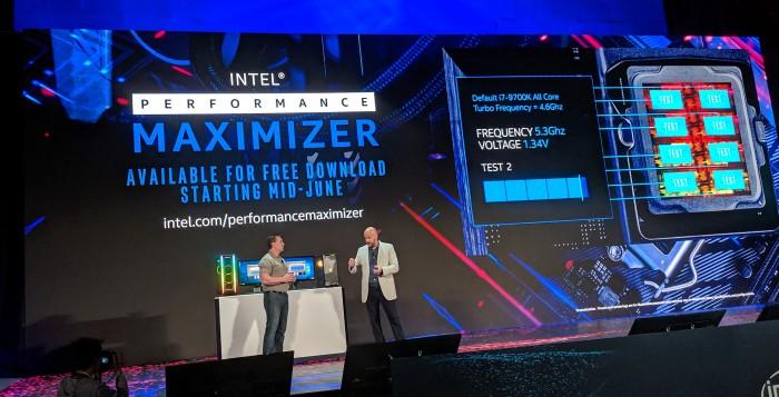 Intel zeigt den Performance Maximizer. (Bild: Intel)
