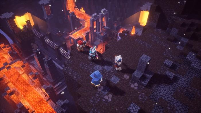 Artwork von Minecraft Dungeons (Bild: Microsoft)