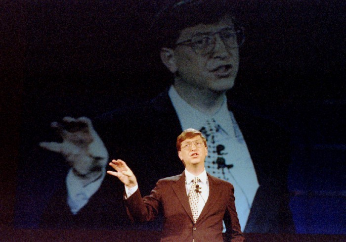 Bill Gates während der Präsentation am 21. Juni 1994. (Bild: Reuters)