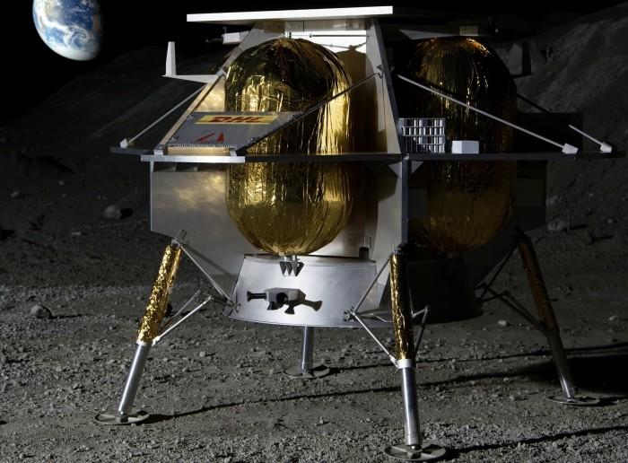 Der Mondlander von Astrobotic soll bis Juli 2021 bis zu 14 Ladungen auf den Mond bringen. (Grafik: Astrobotic)