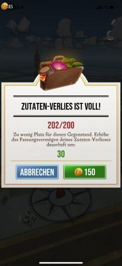 Ohne zusätzliche Lagerkapazitäten müssen wir ständig das Inventar ausmisten. (Bild: Niantic/Screenshot: Golem.de)