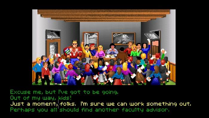 Gleich in den ersten Spielminuten kommt das neue Multiple-Choice-Dialogsystem zum Einsatz. (Bild: Lucasfilm Games/Screenshot: Golem.de)
