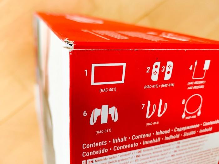 Auf der Verpackung der Switch ist die Modellkennung nur im Kleingedruckten zu finden. (Bild: Golem.de/Peter Steinlechner)
