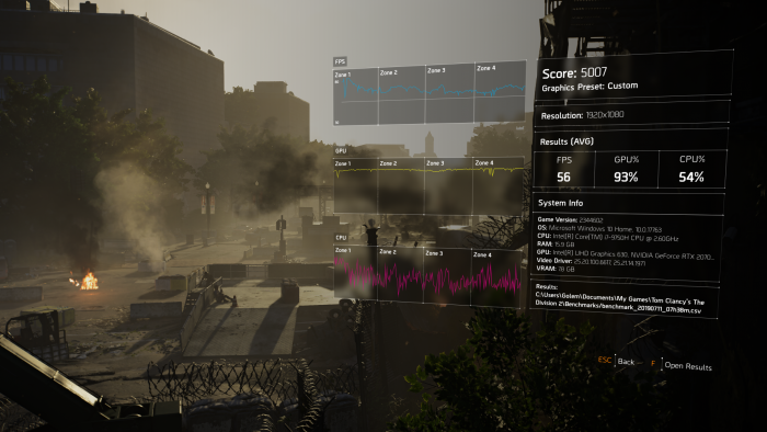 Gaming-Leistung des Blade 15 Advanced: Division 2 (Bild: Oliver Nickel/Golem.de)