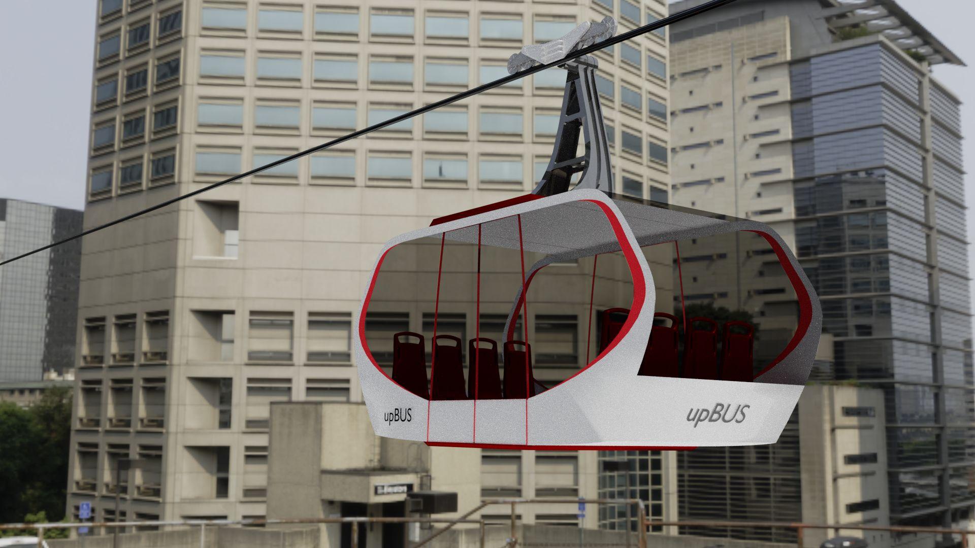 Upbus: Ein E-Bus, der fährt und schwebt - Seilbahnen gelten als sehr sicher. (Bild: RWTH)