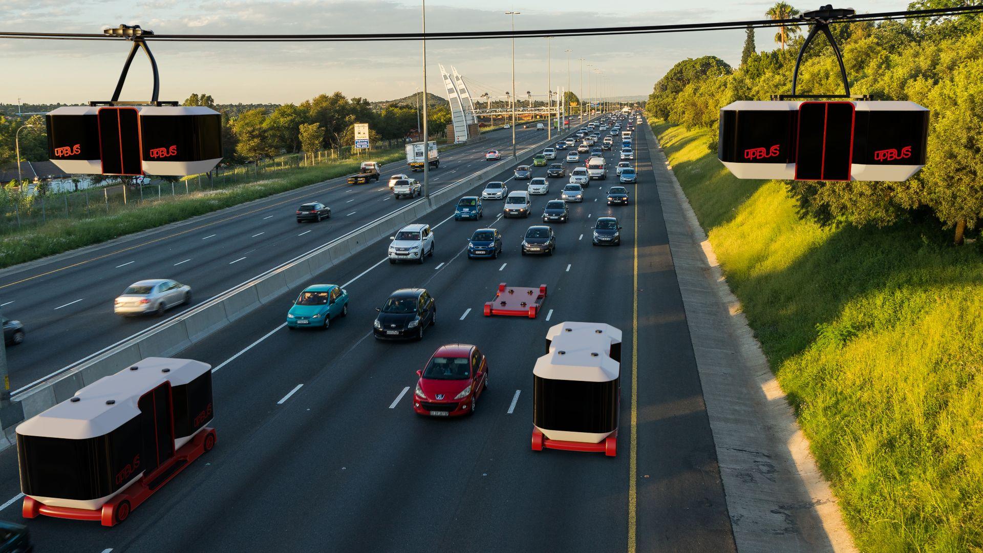 Upbus: Ein E-Bus, der fährt und schwebt - Eine erste Teststrecke soll 2023 fertig sein. (Bild: RWTH)