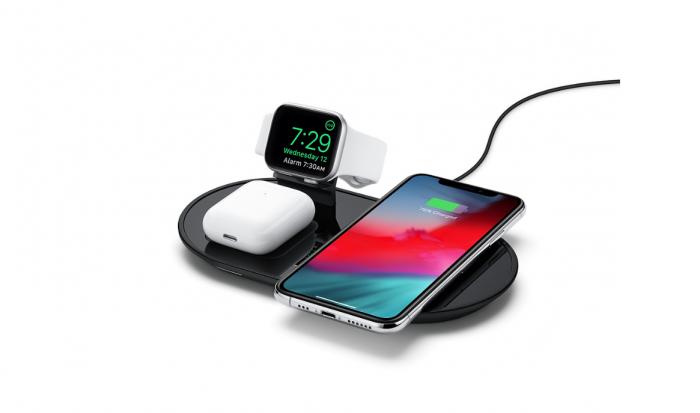 Mophies drahtlose Ladestation für bis zu drei Geräte (Bild: Apple)