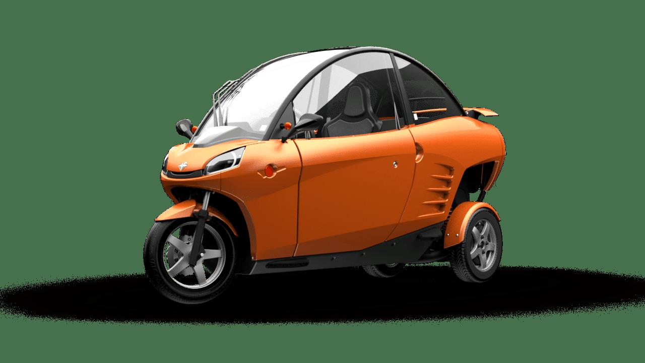Carver: Elektro-Kabinenroller als Dreirad mit Neigetechnik - Carver (Bild: Carver)