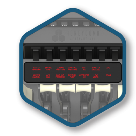 Das Schubreglersystem Bravo Throttle Quadrant. (Bild: Honeycomb Aeronautical)