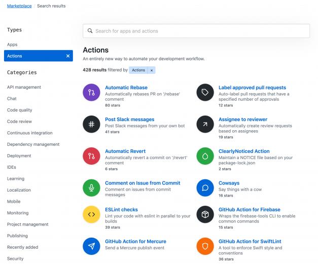 Die Durchsuchbarkeit und Wiederverwendbarkeit von Github Actions wurde deutlich verbessert.