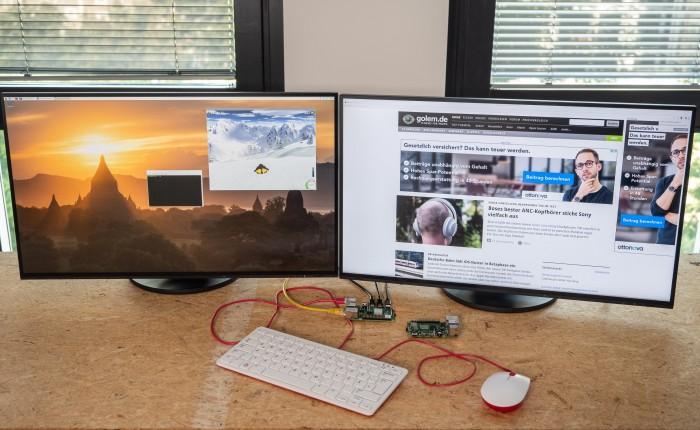Ein Dual-Monitor-Setup hätten wir uns einst nicht vorstellen können.(Foto: Martin Wolf/Golem.de)