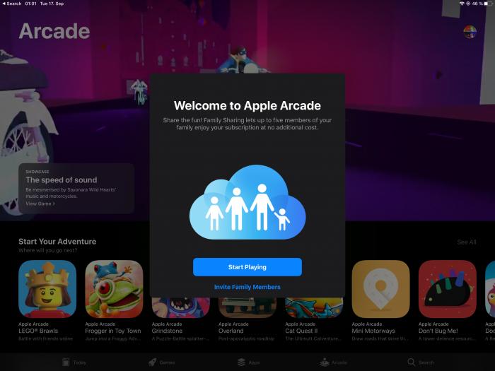 Apple Arcade auf dem iPad (Screenshot: Golem.de)