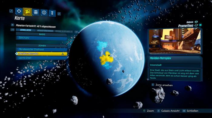 Die Weltkarte ist zu verschachtelt. (Bild: Gearbox/Screenshot: Golem.de)