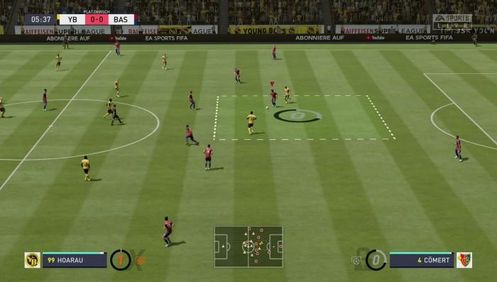 Im neuen Platzhirsch-Modus laden wir in bestimmten Bereichen den Tormultiplikator auf. (Bild: EA Sports/Screenshot: Golem.de)