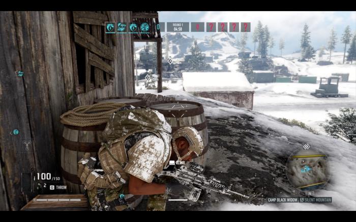 Im PvP-Modus müssen wir auch im Schnee kämpfen. (Bild: Ubisoft/Screenshot: Golem.de)