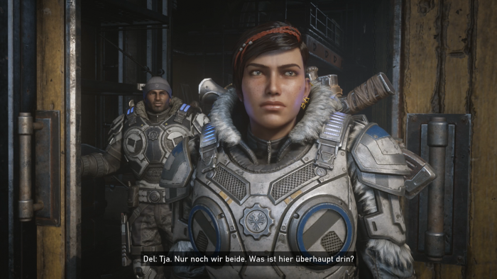 Kait ist mehr oder weniger die Hauptfigur in der Kampagne von Gears 5. (Bild: Microsoft/Screenshot: Golem.de)