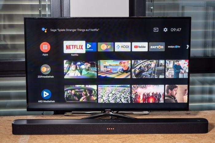 Link Bar läuft mit Android TV (Bild: Martin Wolf/Golem.de)