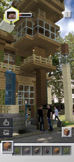 Mitten im Stadtpark haben wir ein Gebäude aufgestellt. (Bild: Microsoft/Screenshot: Golem.de)