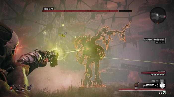 Ein Treffer von diesem Boss und wir sind tot. (Bild: Gunfire Games/Screenshot: Golem.de)