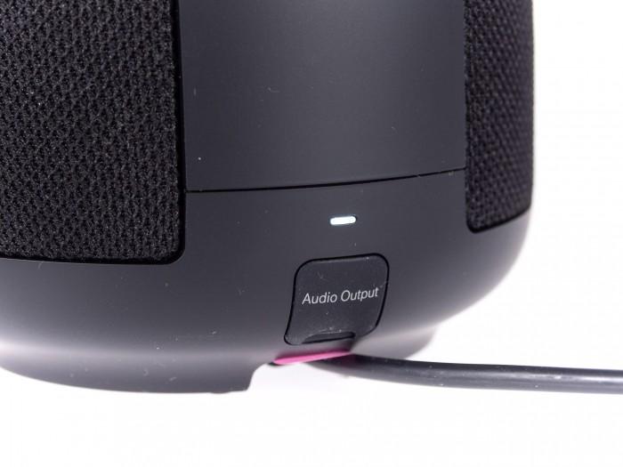 Hier kann der Lautsprecher bei Bedarf in eine Anlage integriert werden. (Bild: Martin Wolf/Golem.de)