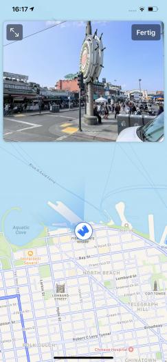 In Apples Karten-App können Nutzer sich jetzt auch in bestimmten Städten umschauen - unter anderem in San Francisco. (Screenshot: Golem.de)