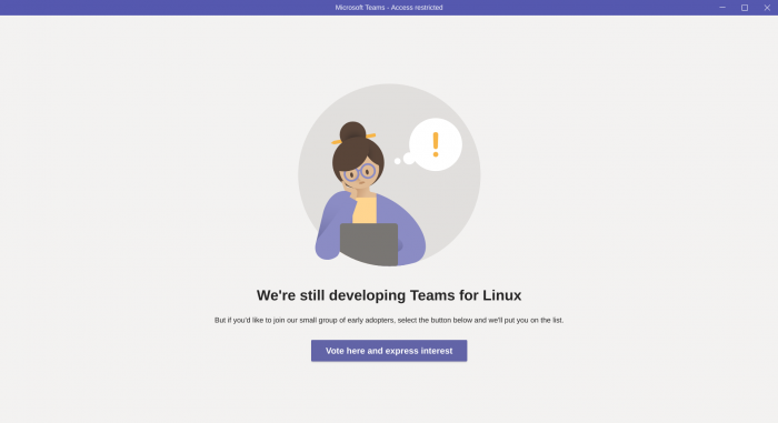 Die Insider-Preview von Teams für Linux ist derzeit noch auf wenige Nutzer beschränkt. (Bild: Microsoft/Screenshot: Golem.de)