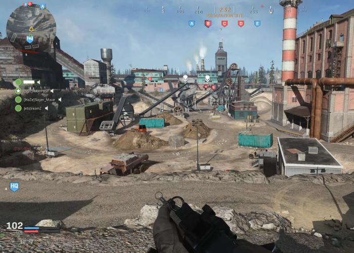 In Ground War kämpfen wir um strategische Punkte. (Bild: Activision/Screenshot: Golem.de)