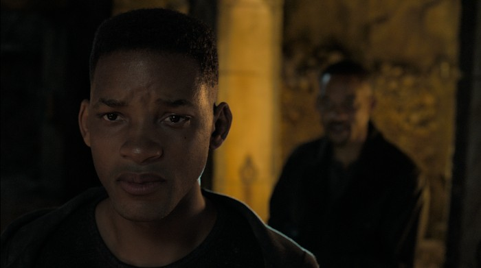 Henry Brogan (Will Smith) trifft seinen Klon Junior (Will Smith). (Bild: Paramount Pictures)