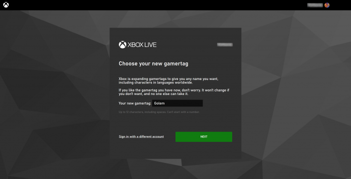 Eine einmalige Änderung des Gamertags ist kostlos möglich. (Bild: Microsoft/Screenshot: Golem.de)