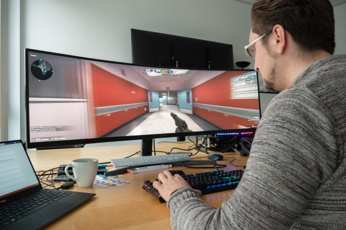 In Counter-Strike: Global Offensive sind Verzerrungen erkennbar. (Bild: Martin Wolf/Golem.de)