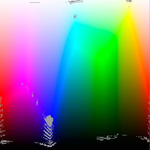 Typisch VA-Panel: Schwächen in Blaubereichen und roten Bereichen (Bild: Martin Wolf/Golem.de)
