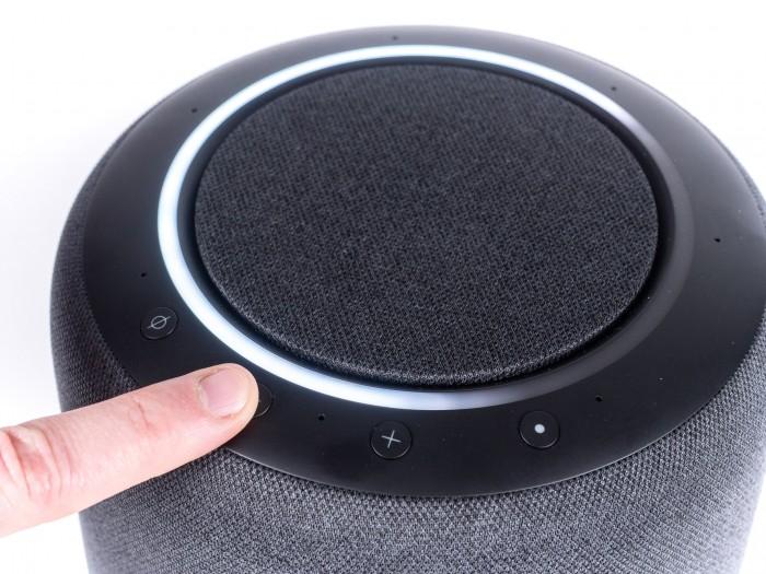 Die Anzeige der Lautstärke-Änderung beim Echo Studio (Bild: Martin Wolf/Golem.de)