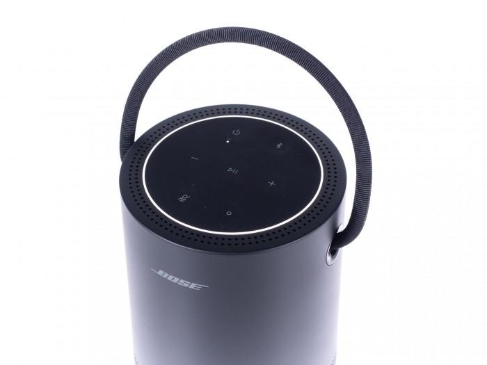 Der Leuchtring des Portable Home Speaker in Aktion (Bild: Martin Wolf/Golem.de)