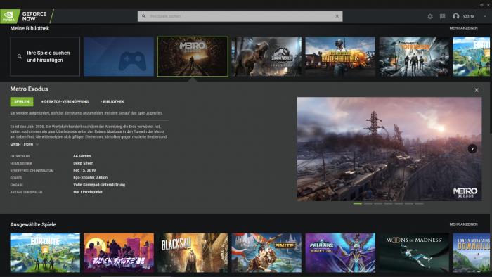 In Geforce Now kommen die Games aus mehreren Quellen. (Bild: Nvidia/Screenshot: Golem.de)