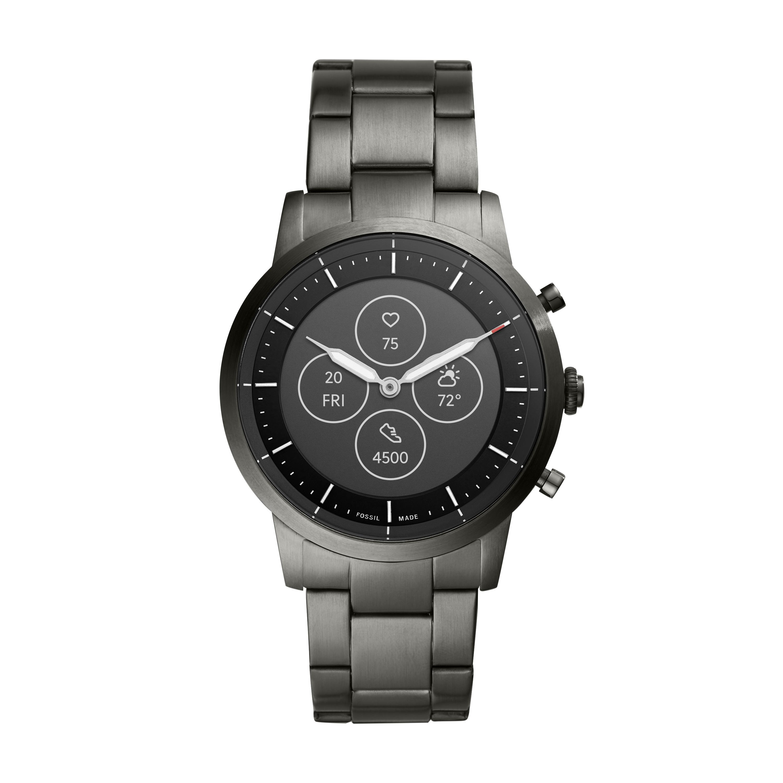 Hybrid HR: Fossil präsentiert neue Smartwatch mit Display und Zeigern - Die Fossil Hybrid HR in Silber (Bild: Fossil)