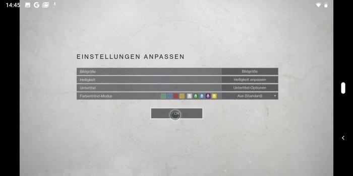 In Destiny 2 gibt es im Grafikmenü nicht mehr viel zu tun ... (Bild: Google/Screenshot: Golem.de)