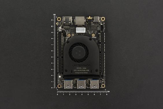 Lattepanda Delta 432: Minicomputer hat GPIO, USB-C und Arduino-Coprozessor - Lattepanda Delta 432 (Bild: Lattepanda)
