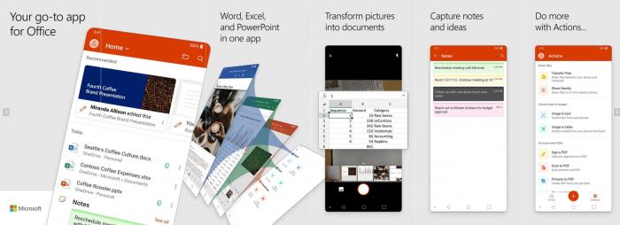 Erste Bilder der Office Mobile App (Bild: Microsoft)